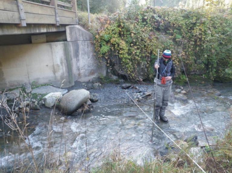 Restwassermessung KW Dientenbach